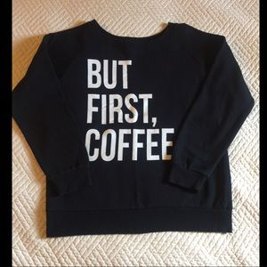 Black But Coffee First Crew Neck